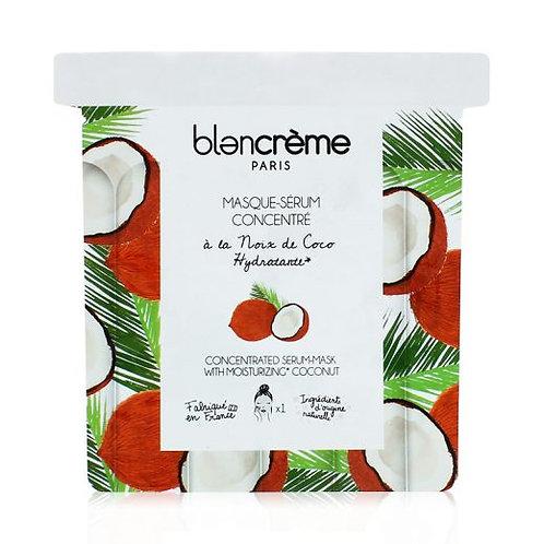 Masque-Sérum Tissu Noix de Coco - Blanc Crème