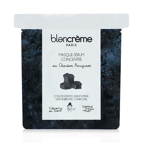 Masque-Sérum Tissu Charbon - Blanc Crème