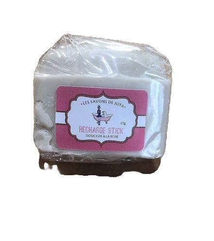 Recharge déodorant stick - Douceur à la rose