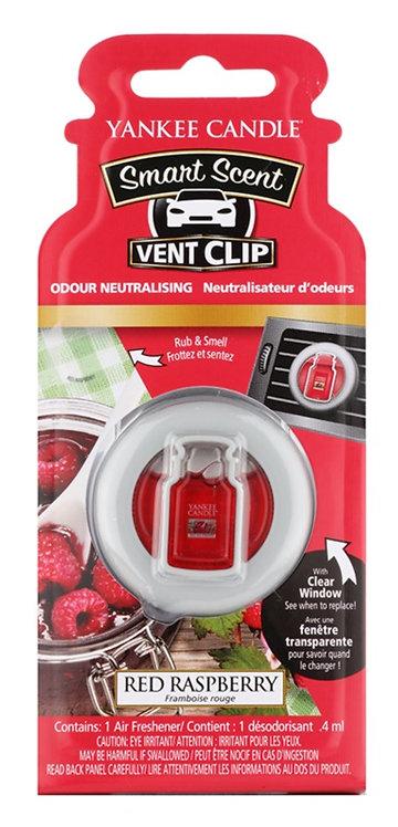 Clip pour aérateur de voiture framboise rouge - Vent Clip