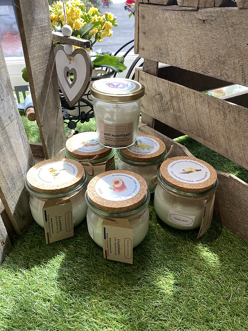 Bougie à la cire de soja - bougiesmauves