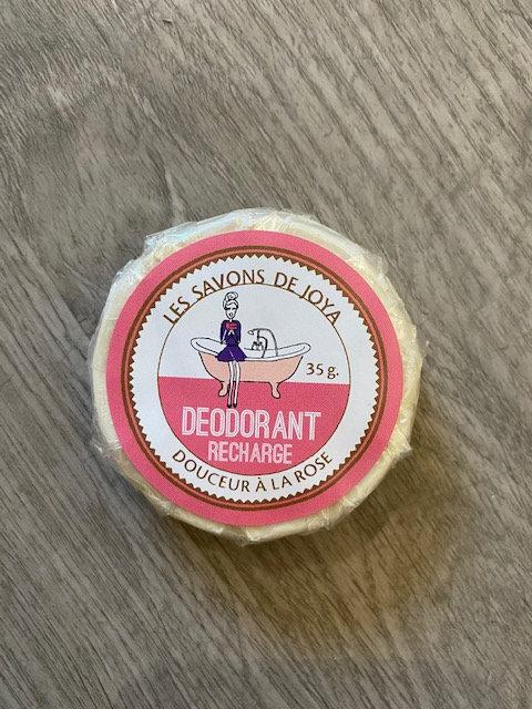 Recharge déodorant boite Douceur à la rose - Les Savons de Joya