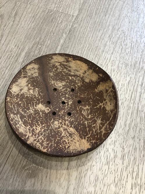 Porte savon végétal et naturel rond - En noix de coco