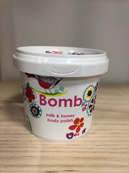 Gel douche exfoliant Milk & Honey - Bomb Cosmetics