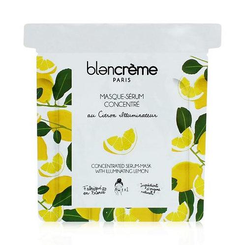 Masque-Sérum Tissu Citron - Blanc Crème