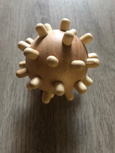 Balle de massage en bois