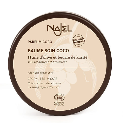 Baume soin coco certifié Cosmos Organic - Najel
