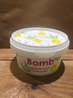 Crème hydratante Pineapple Prefect (avec paillettes) - Bomb Cosmetics