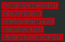 End of year golf reflection