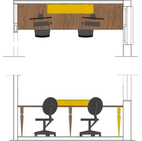 COUPLE DESK
