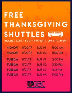 Thanksgiving Shuttles