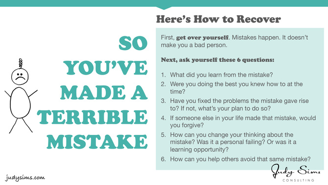 Infographic: So You've Made a Terrible Mistake...