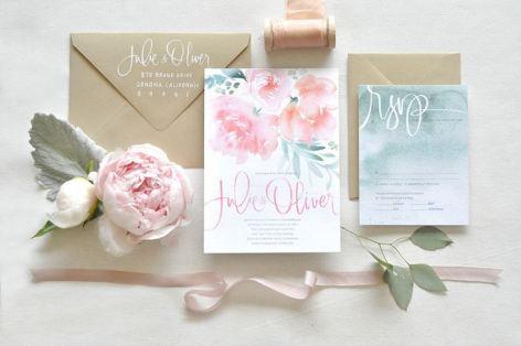 акварель приглашения на свадьбу