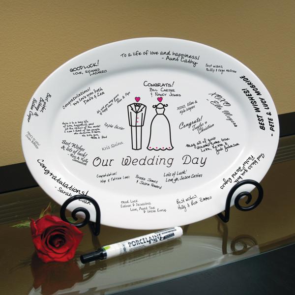 тарелка для пожеланий на свадьбе