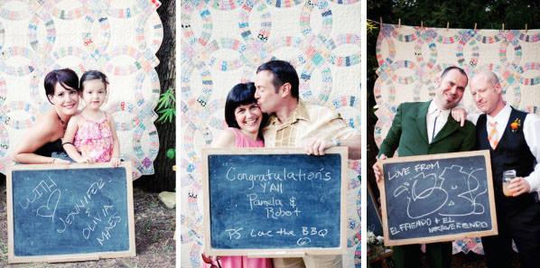 меловые доски на свадьбе