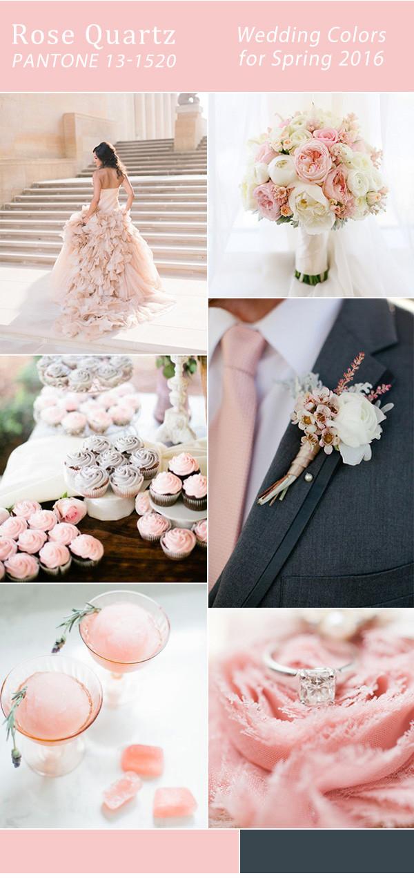 розовый кварц цвет для свадьбы 2016