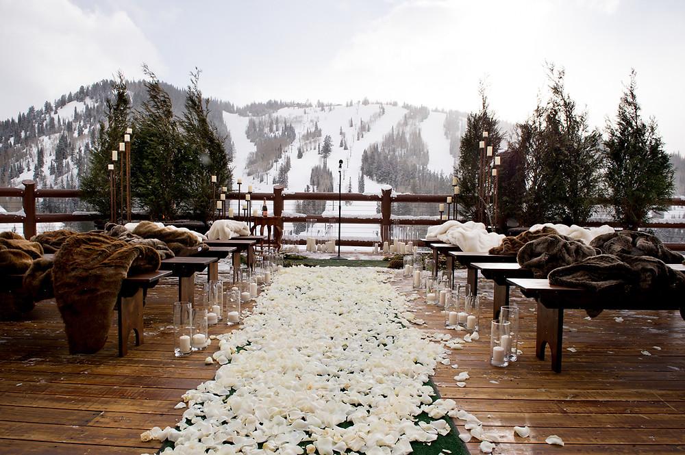 церемония свадьбы зимой Дмитров