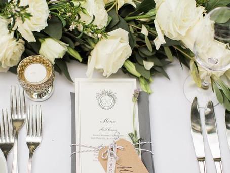 Меню и винная карта для гостей на свадьбе