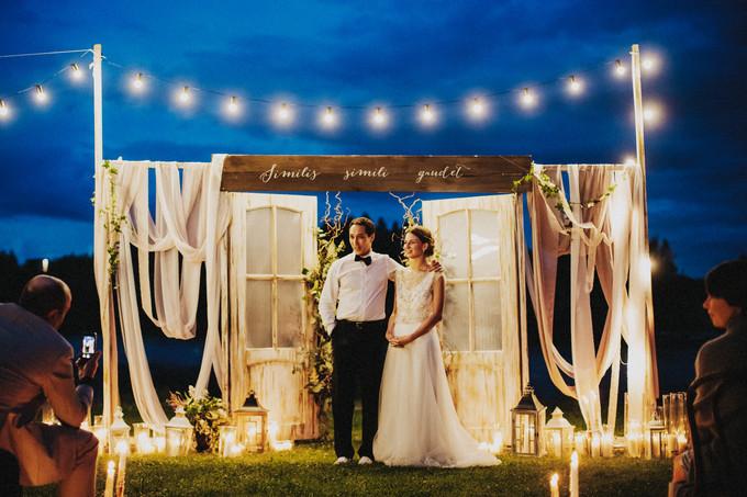 вечерние свадебные церемонии