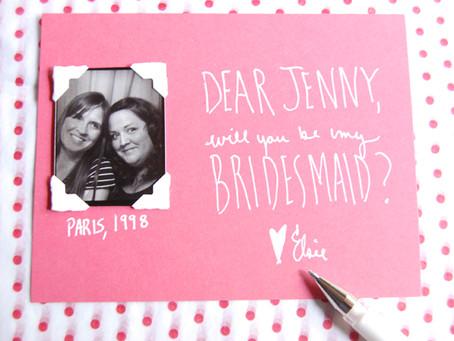 Ты будешь моей ... подружкой невесты?