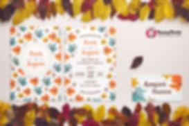 приглашение в осеннем стиле, приглашения осень заказать, свадьба осенью приглашения