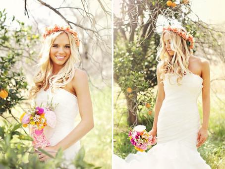 Венок из цветов на свадьбу