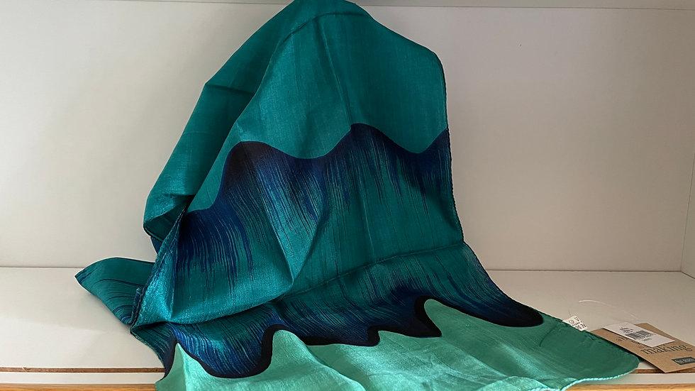 Ocean Wave Silk Scarf