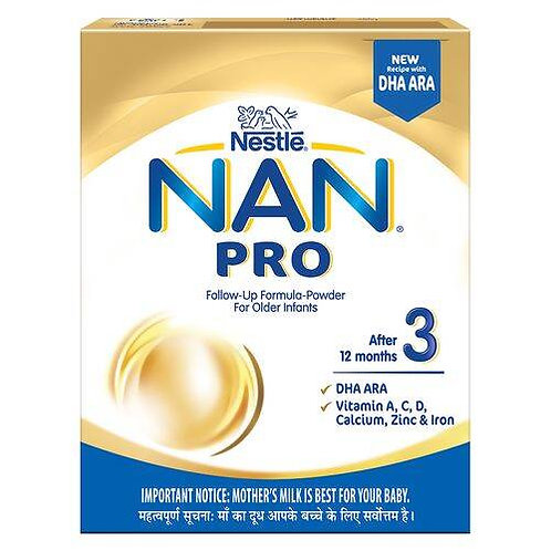 Nestle Nan Pro 3 Follow-Up Formula-Powder - After 12 months, Stage 3, 400 g Bag-