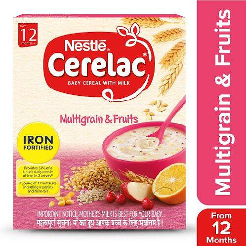 Nestle Cerelac Fortified Baby Cereal With Milk, Multigrain & Fruits - From 12 Mo