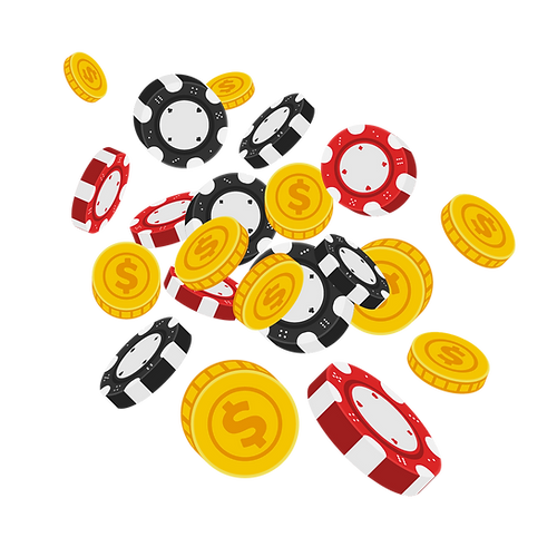 —Pngtree—vector flying casino chips with