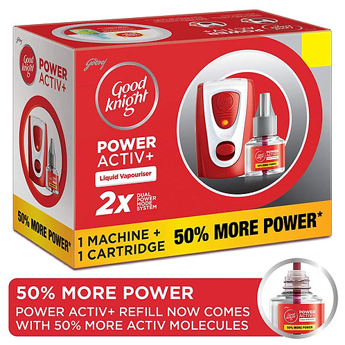 Godrej Good Knight Power Activ+ System - Mosquito Repellent Combo
