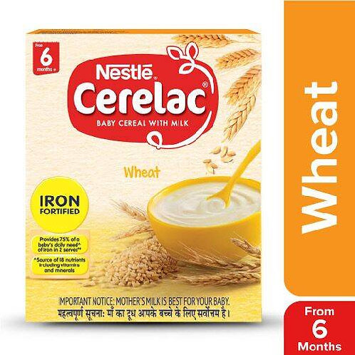 Nestle Cerelac Fortified Baby Cereal With Milk, Wheat - From 6 Months, 300 g Bag
