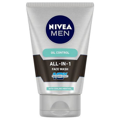 Nivea Men Face Wash - All In One, 10x Vitamin C, 100 g Tube