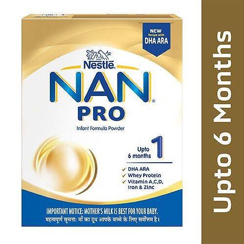 Nestle Nan Pro 1 Infant Formula Powder - Upto 6 months, Stage 1, 400 g Bag-In-Bo