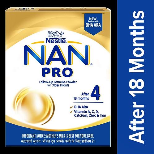 Nestle Nan Pro 4 Follow-Up Formula-Powder - After 18 Months, Stage 4, 400 g Bag-