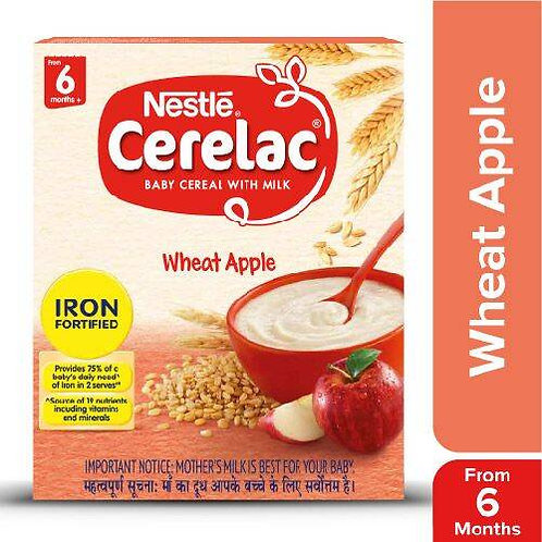 Nestle Cerelac Fortified Baby Cereal With Milk, Wheat Apple - From 6 Months, 300