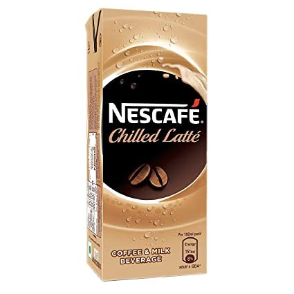 Nescafe Chilled Latte, Ready-To-Drink Cold Coffee, 180Ml
