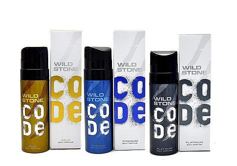 Wild Stone Code Gold, Platinum, Titanium Men's Body Perfume 120ml