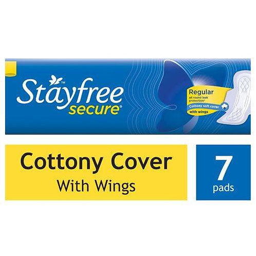 STAYFREE Sanitary Pads - Secure Cottony Soft, with Wings