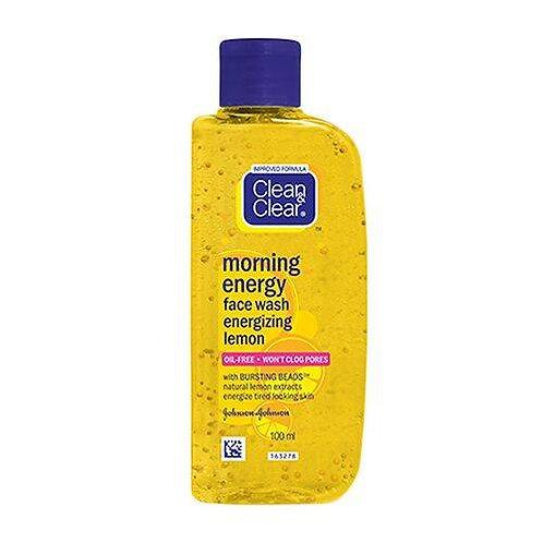 Clean & Clear Morning Energy Facewash - Lemon, 100 ml