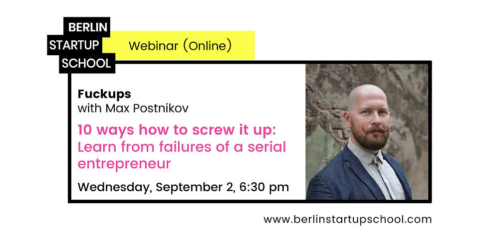 10 WAYS HOW TO SCREW IT UP 🤯 – Learn from failures of a serial entrepreneur