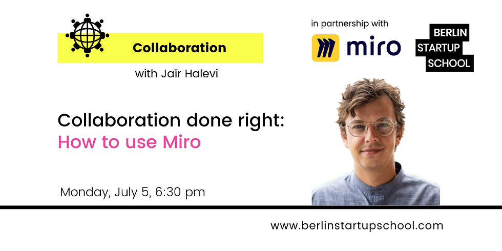 Collaboration done right: How to use Miro with Jaïr Halevi