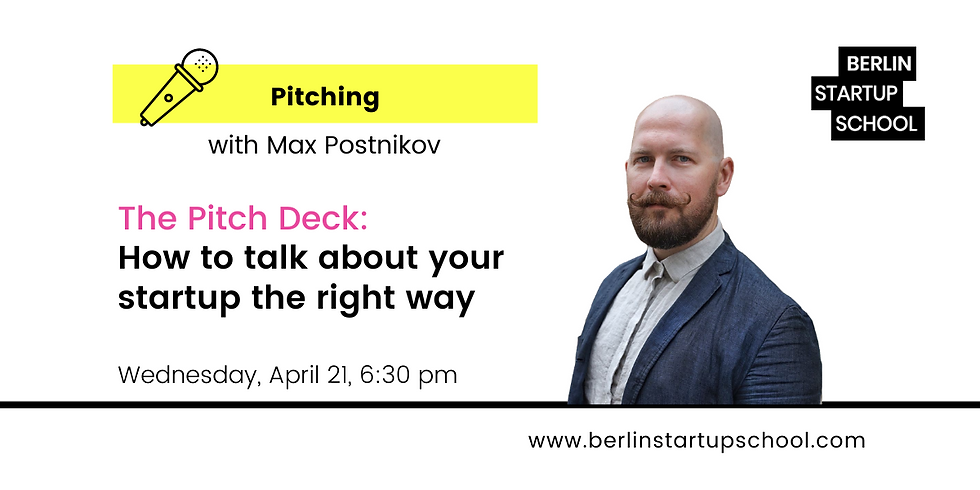 The Pitch Deck: How to talk about your startup the right way