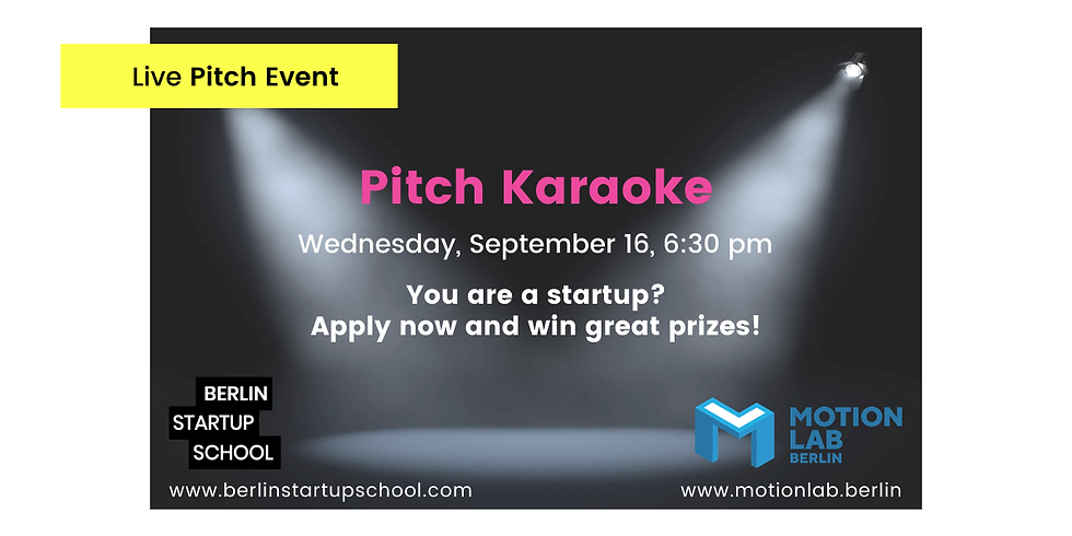 🎤 Pitch Karaoke: Test your skills and win great prizes!