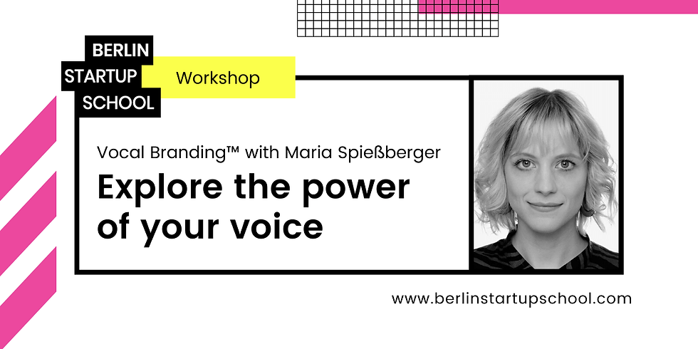 🗣 Vocal Branding™ with Maria Spießberger: Explore the power of your voice