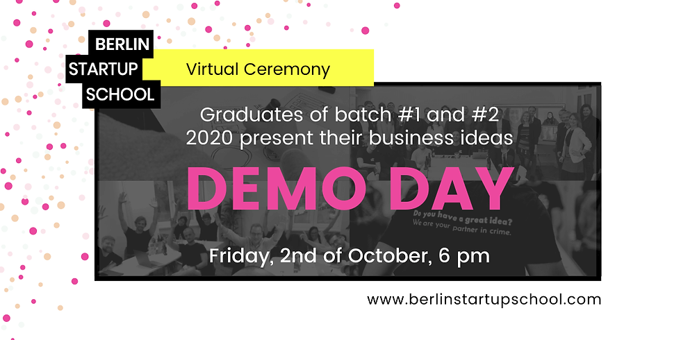 🎤 Demo Day (Batch #1 and #2 2020)