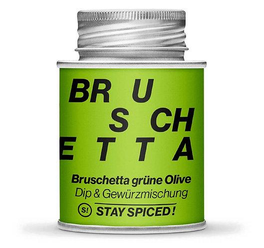 Bruschetta grüne Olive, Gewürzmischung, Mediterran, Schraubdose, Vorderansicht