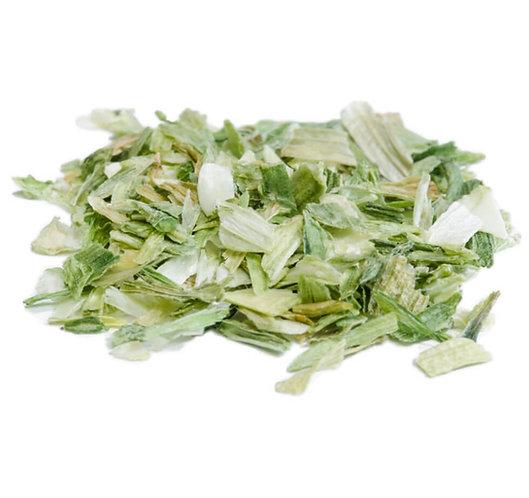 Lauch, Porree, grün & weiss - geschnitten, getrocknet