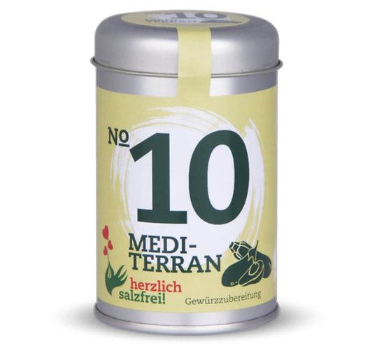 herzlich salzfrei, Nr. 10 Mediterran, Gewürze ohne Salz, Streudose - 30g