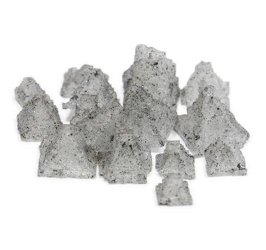 Pyramidensalz , Fingersalz, schwarz